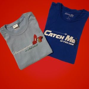 2 Show Themed T-shirts Wizard of Oz Catch Me